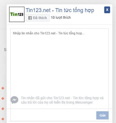 tạo khung chat faceook cho website