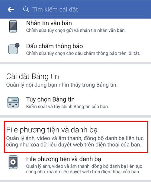 tắt âm thanh thông báo facebook