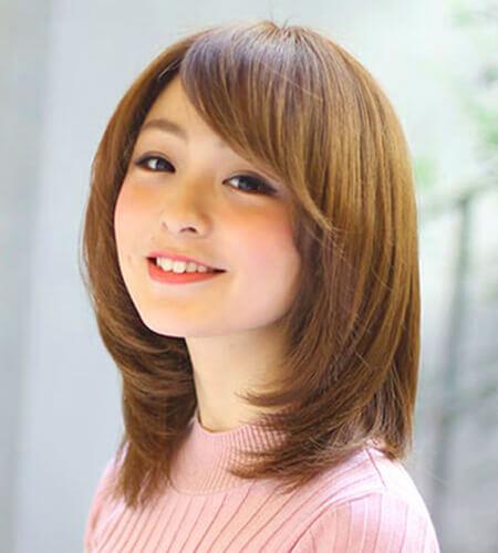 tóc ngắn ngang vai tỉa layer